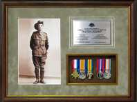 War Service Medal Framing